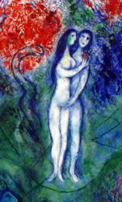 Chagall - Adam and Eve