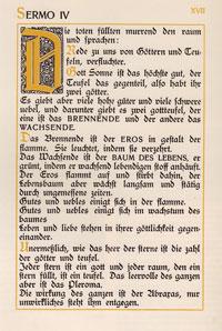Septem Sermones, original page