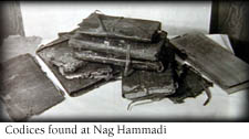 The leather-bound codices found at Nag  Hammadi