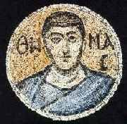 A mosaic portrait of the Apostle Thomas